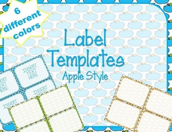 Label Template - Apples