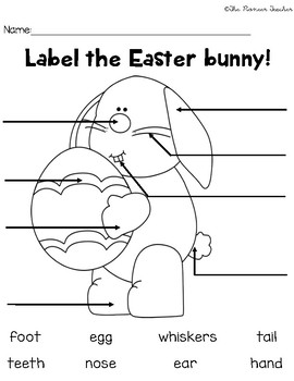 Label The Easter Bunny