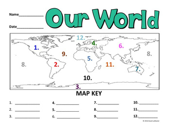"""Continents and Oceans """"Labeling"""""""