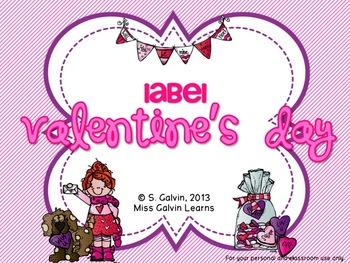 Label Valentine's Day