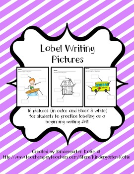 Label Writing Pictures
