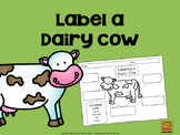 Label a Dairy Cow FREE