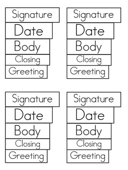Label a Friendly Letter activity and song