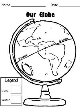 Label a Globe Worksheet