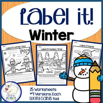 Label a Picture - Winter