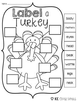 Label a Turkey {Freebie!}