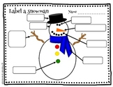 Label a snowman write the room