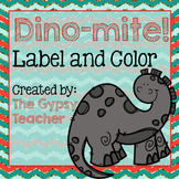 Label and Color DINOSAUR - The Gypsy Teacher