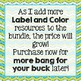 Label and Color GROWING BUNDLE  -The Gypsy Teacher