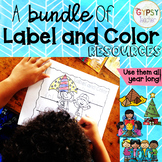 A Bundle of Label and Color Resources #bundleupwithtpt