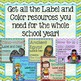 Label and Color GROWING BUNDLE - The Gypsy Teacher