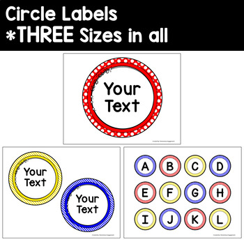 Label and Sign Templates in Primary Colors - Red, Blue & Yellow