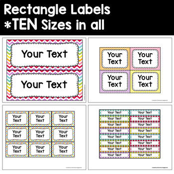 Label and Sign Templates in Soft Chevron and Dots