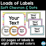 Editable Labels and Sign Templates in Soft Chevron and Dots