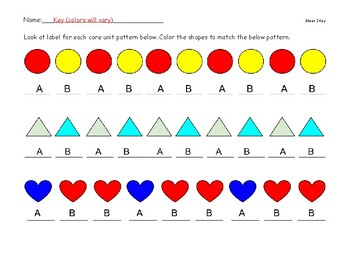 Label and color patterns AB, AAB, ABB