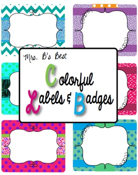 Label and/or Badge Templates!  Just Add Your Own Text!!