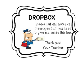 Label for Note Container (DROPBOX)