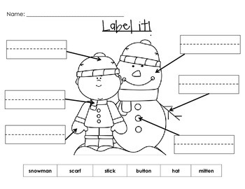 Label it! Fun labeling worksheets with or without word-banks