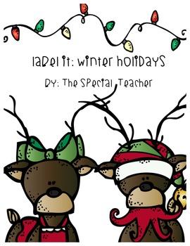 Label it: Winter Holidays