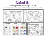 Label it! Writing Station Sheets with Picture Word Cards