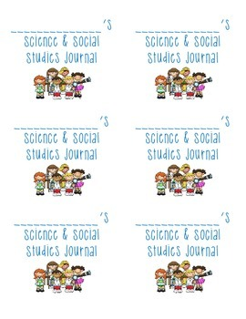 Label science and social studies journal AVERY 8164