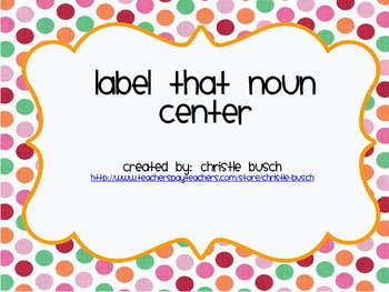 Label that Noun!