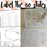 Label the 50 States Worksheets