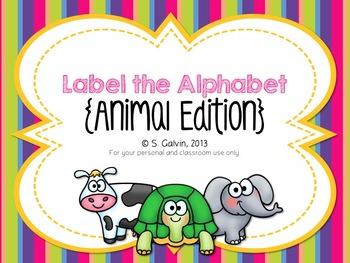 Label the Alphabet - Animal Edition