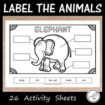 Label the Animals