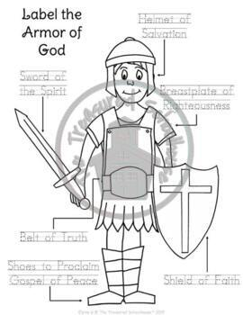 Crush image with armor of god printable activities