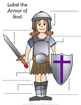 Label The Armor Of God Worksheets