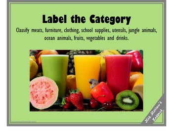 Label the Category