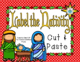 Label the Christmas Nativity Cut & Paste