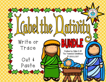Label the Christmas Nativity BUNDLE
