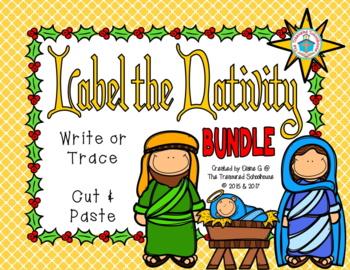 Label the Christmas Nativity BUNDLE