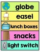 Classroom Labels -Around the Room - Word Wall, Word Recogn