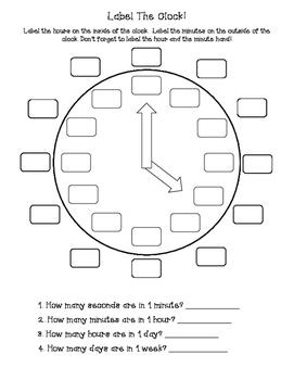 Label the Clock