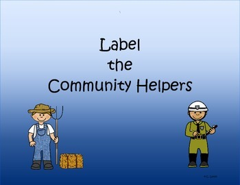 Label the Community Helpers