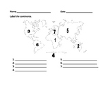 Label the Continents Quiz
