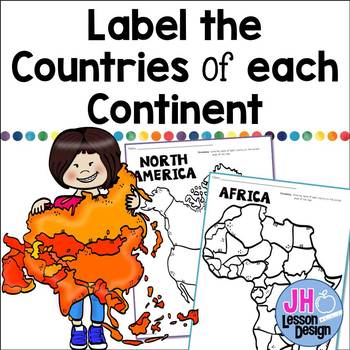 Label the Countries of Each Continent