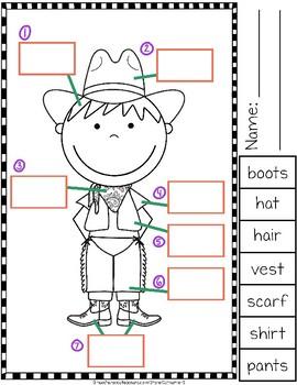 Label the Cowboy