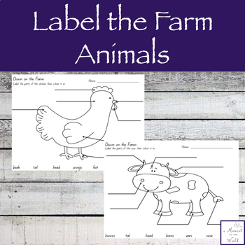 Label the Farm Animals
