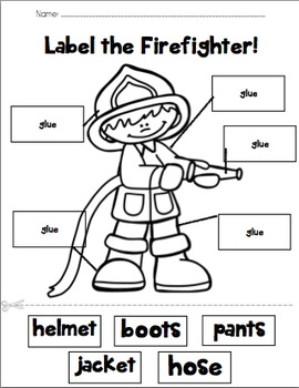 Label the Firefighter!