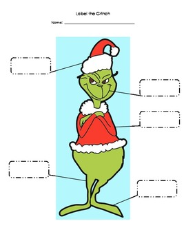 Label the Grinch!