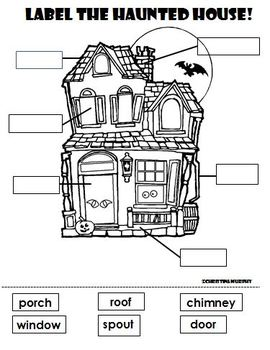 Label the Haunted House!