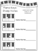 Label the Keys-Music Notes Worksheets. Beginning Piano Music. Preschool-2nd Gra.