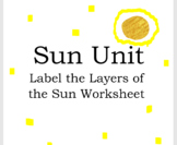 Label the Layers of the Sun Worksheet - Sun Unit