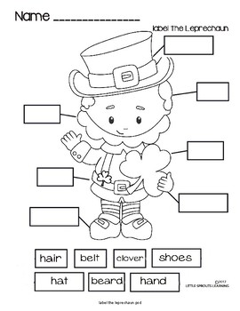 Label the Leprechaun (FREEBIE)