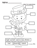 (FREEBIE) St. Patrick's day Label the Leprechaun