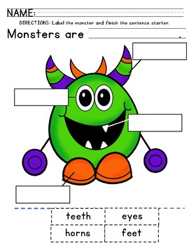 Label the Monster